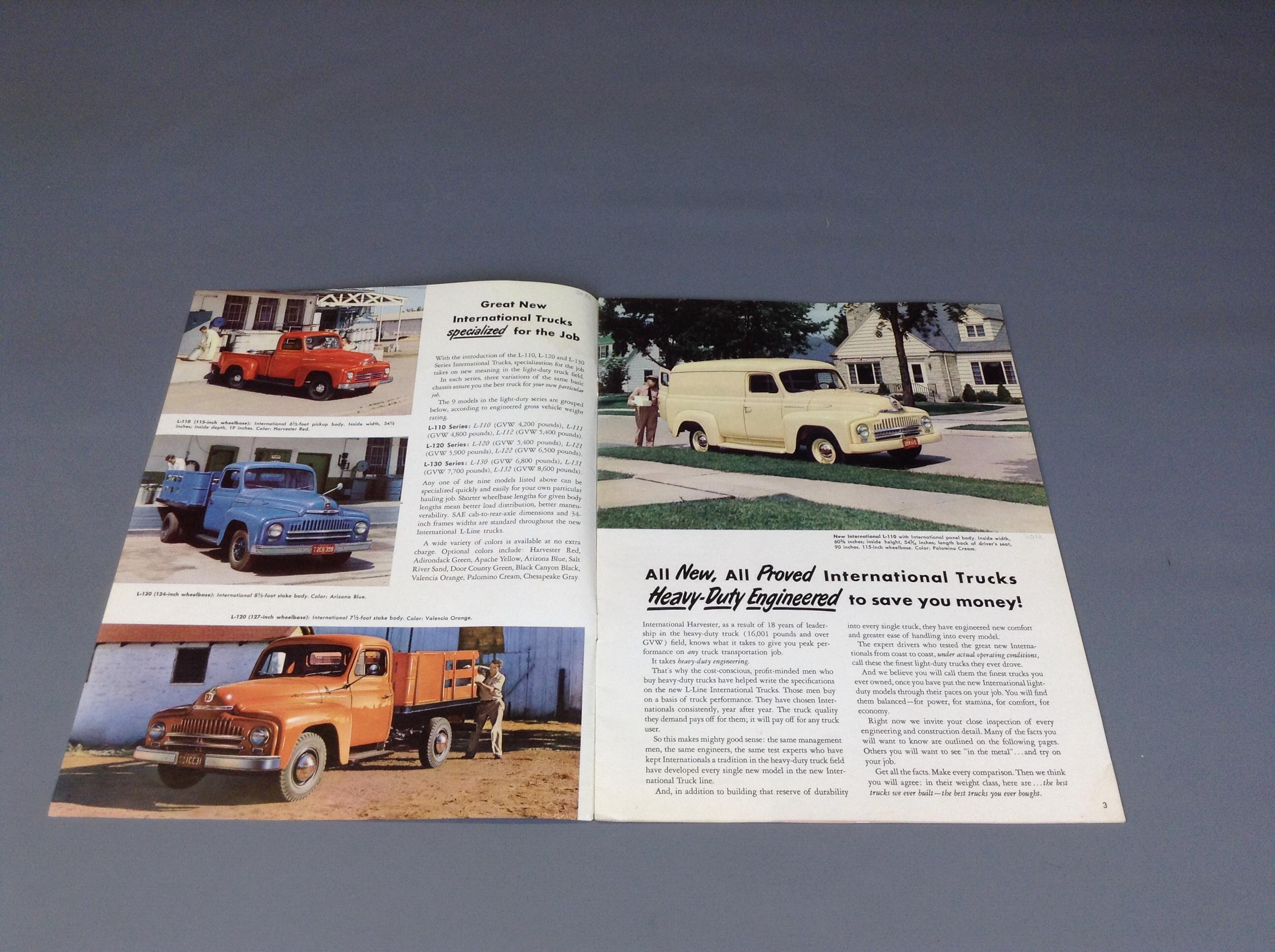 IH LIGHT DUTY SERIES L 110 L 120 L 130 Sales Brochure IH Scout