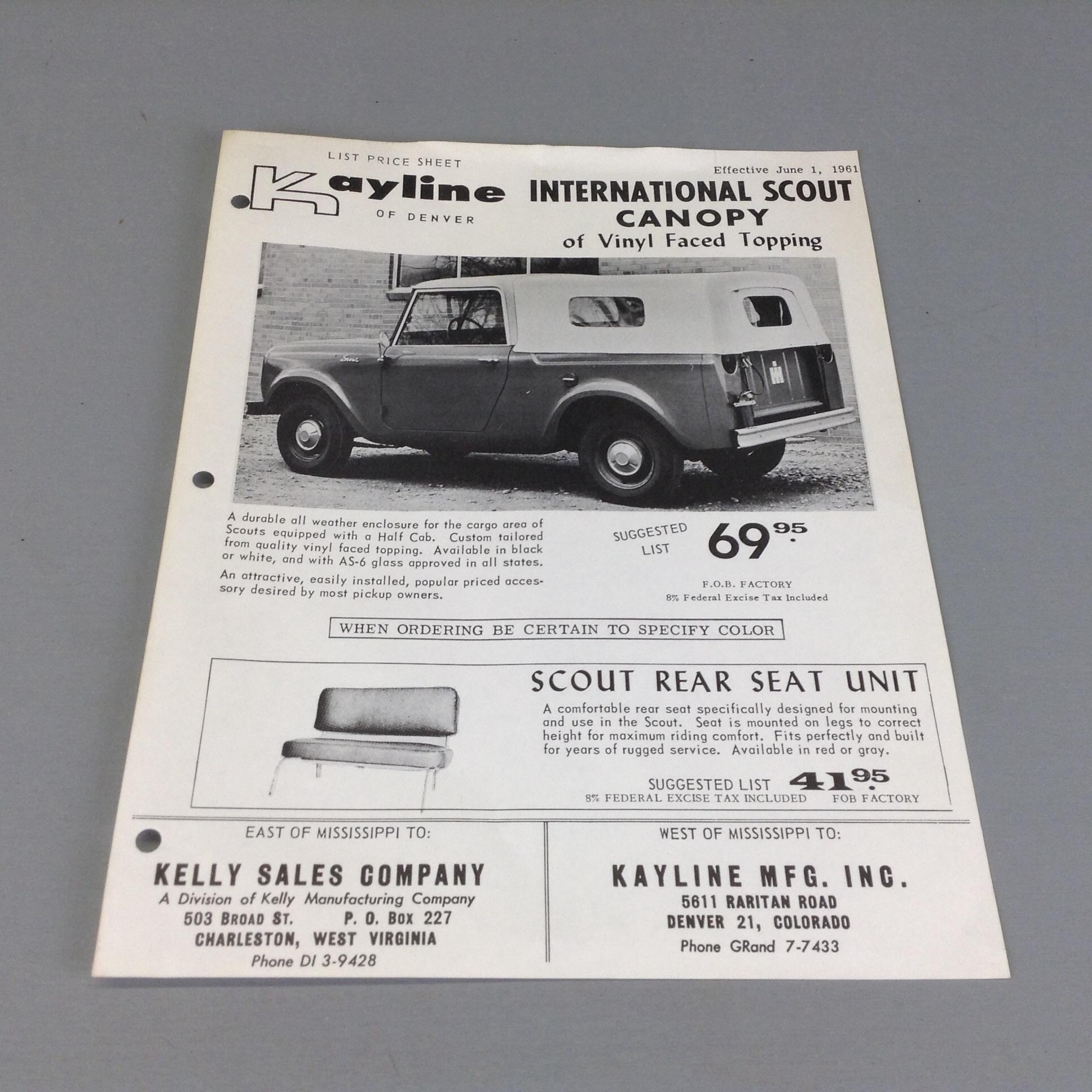 Scout Sales Literature