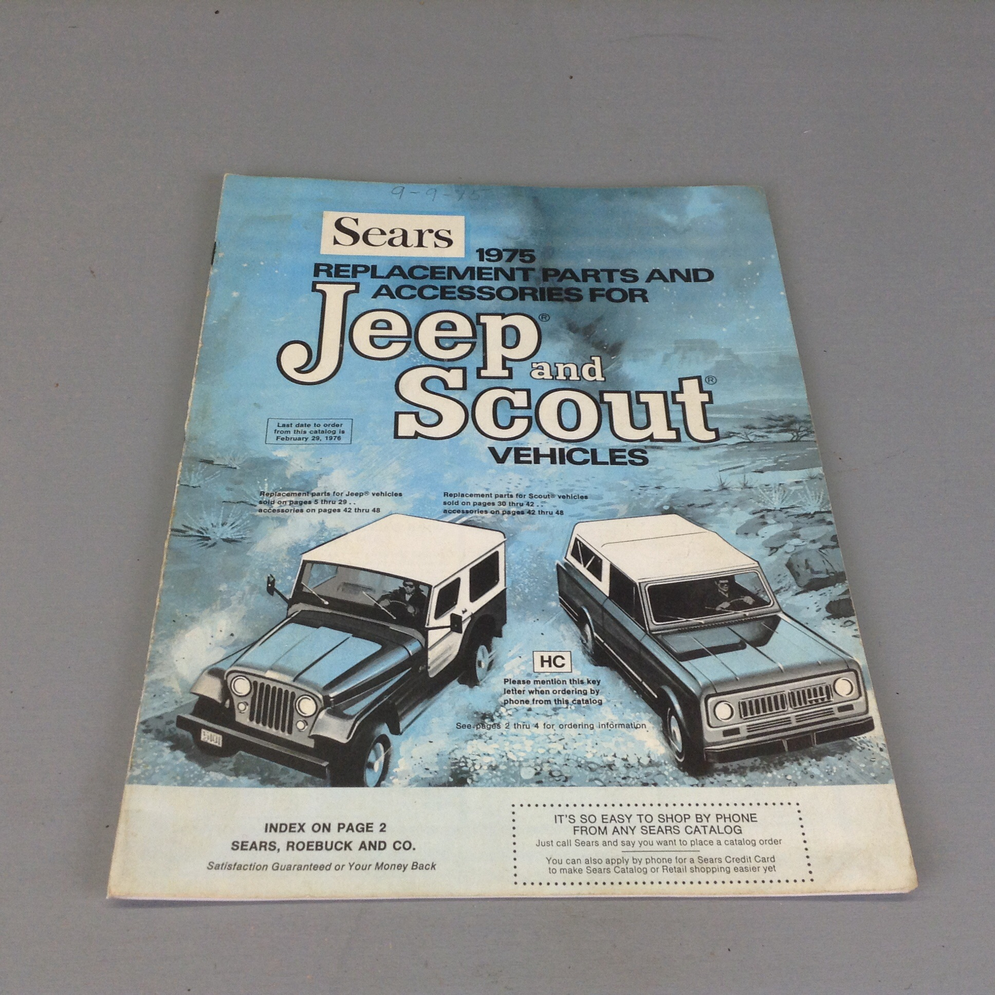 Vintage Sears 1976 Scout Accessories Catalog
