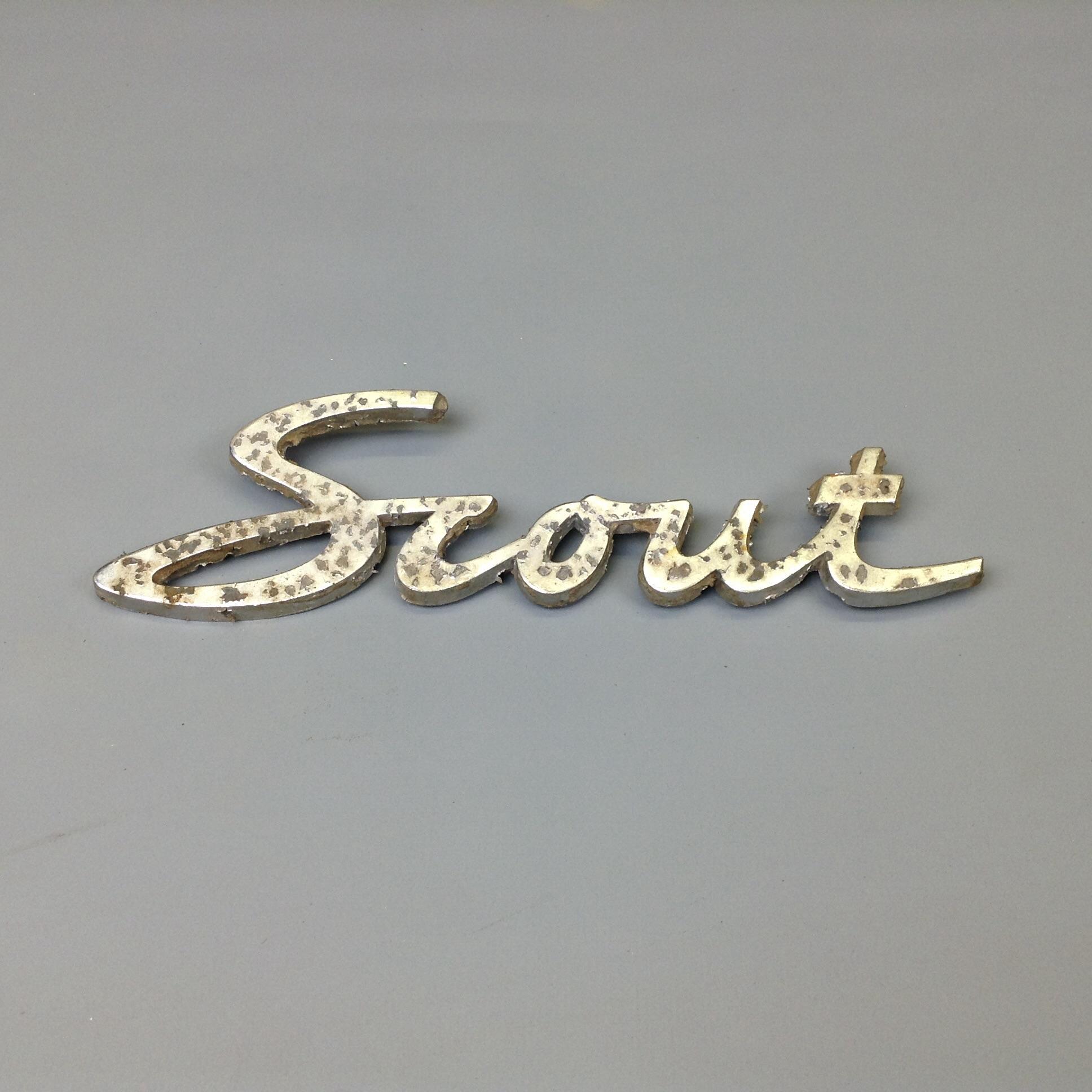 Scout 80 800 Script Emblem Used