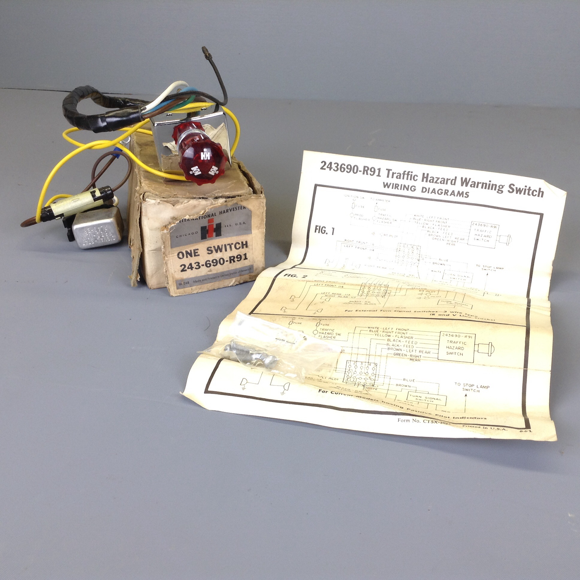 Electrical Sending Archives Ih Scout Wire Diagram Nos 80 800 Truck Travelall 4 Way Flasher Kit