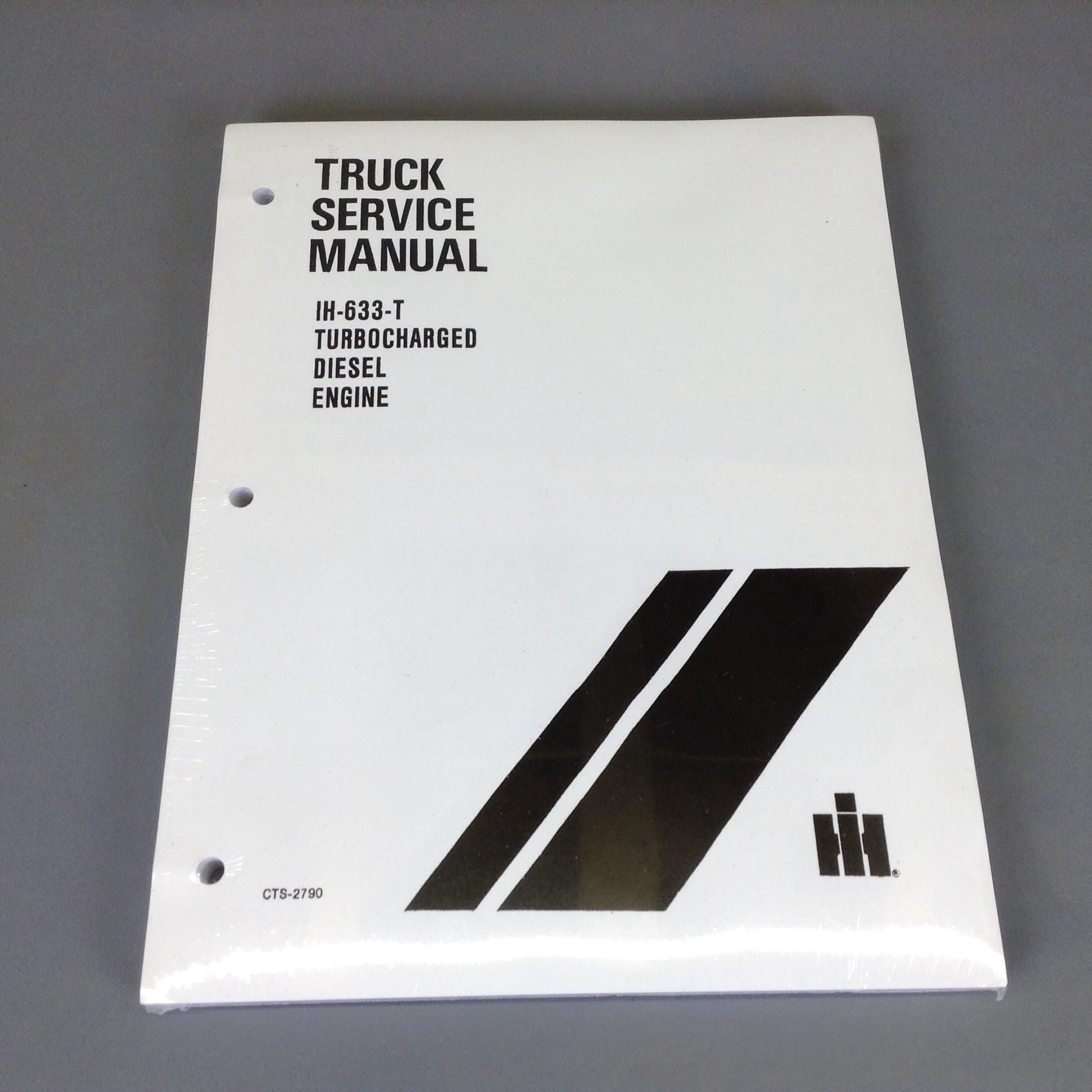 Diesel SD633T Turbo Service Manual, Scout II